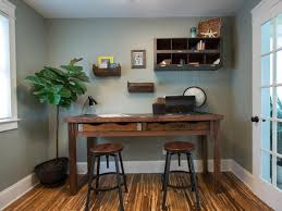 how to build a rustic office desk