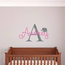 custom name girls boys wall decal monogram personalized name wall decal sticker art name vinyl wall decal name and initial decal nursery room wall