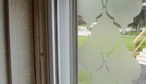 privacy treatment shower for bay window front diy ideas marvelous door garage screen bedroom kitchen interior