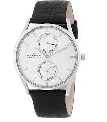 skagen men s holst quartz stainless steel and leather casual watch best watches under 100