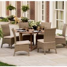 patio dining sets 7 piece torbay outdoor wicker round patio dining set 7 piece patio furniture