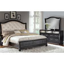 King Bedroom Furniture Marilyn 5 Piece King Bedroom Set Ebony American Signature