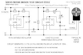 servo motor test circuit electronics motors servo motor test circuit