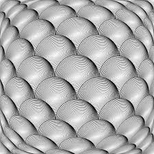 Design Monochrome Warped Grid Sphere Pattern Stock Vector