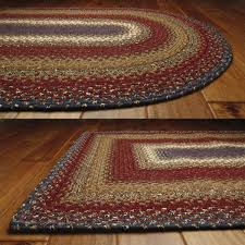 log cabin cotton braided rugs