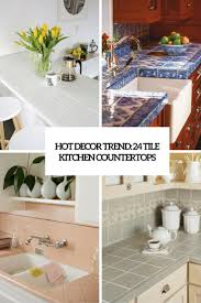 white tile kitchen countertops. Delighful White Hot Decor Trend 24 Kitchen Tile Countertops Cover With White Tile Kitchen Countertops