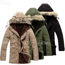 znu men 39 s luxury faux fur long winter trench coat jacket hooded parka
