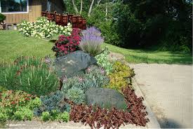 front yard rock garden ideas