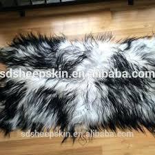 real curly sheepskin fur rug lambskin area lamb mongolian grey