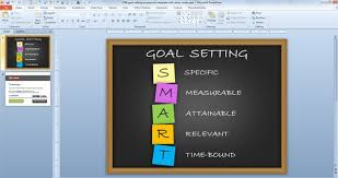Ppt Template Design Free Free Goal Setting Powerpoint Template With Sticky Notes Free