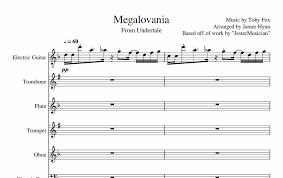 megalovania trumpet sheet music undertale megalovania by 1230james on deviantart