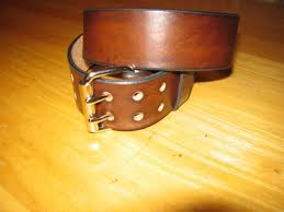 custom made genuine leather belt 1 3 4 wide double g buckle antique