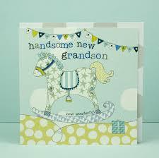 New Baby Grandson Card Grandparents Congratulations Card