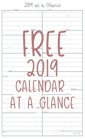 Year At A Glance Calendars Year At A Glance Free Printable Calendar All Things Thrifty