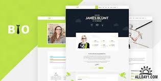 Themeforest Bio V1 1 Resume Cv Freelancer Wordpress Theme
