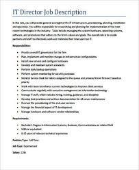 it director job description example service director job description