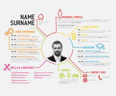 Modern Resume Infographics Resume Infographic Template Magdalene Project Org