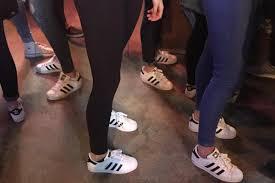 adidas girls. popular adidas superstar trainers spark an online frenzy after photo shows \u0027everyone\u0027 wearing them girls