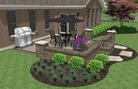 simple patio designs with fire pit. Simple Pit DIY Square Brick Patio Design With Seat Wall And Fire Pit 3 And Simple Designs With I