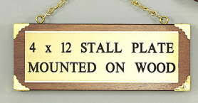 Image result for horse stall plates in brass