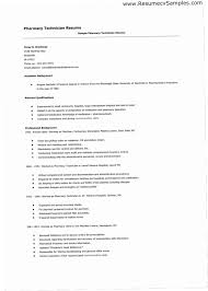 Pharmacy Tech Resume Samples Simple Resume For Pharmacy Technician YAKX Healthcare Medical Resume