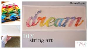 diy string wall art tutorial handmade