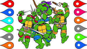 Teenage Mutant Ninja Turtles Coloring Pages - Learn Colors ...