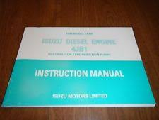 isuzu diesel engines isuzu 1999 4jb1 diesel engine operators owners manual