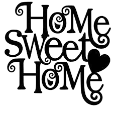 Small Picture Home Sweet Home Die Cut Vinyl Decal PV1004