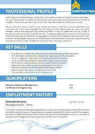 Skilled Trades Resume Examples Skilled Trade Resume 001 Construction Resumes