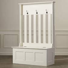 Ebay Coat Rack Mudroom Details About White Wooden Hall Tree Entryway Bench Coat 55