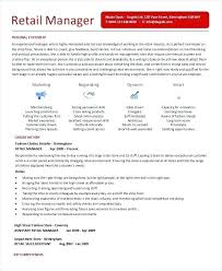 Department Store Manager Resumes Retail Store Manager Resume New Assistant Manager Resume Template