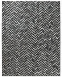 hides trends page chevron cowhide rug  blue grey  interiors