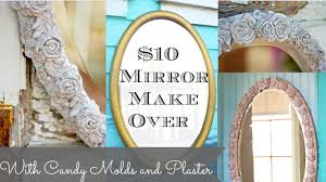 Diy Mirror Diy Mirror With Plaster Chalk Type Paint And Cake Molds Youtube