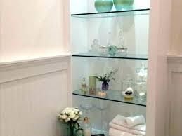 glass shelves bathroom wall bathroom storage