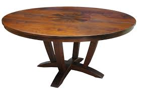 a round walnut dining table