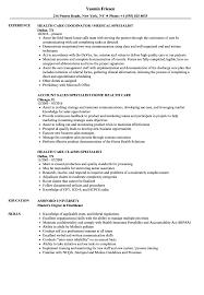 Home Health Care Job Description For Resume Health Care Specialist Resume Samples Velvet Jobs