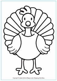 Turkey Coloring Page A4 Free Crafts Pinte