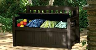 outdoor patio storage bench garden furniture innovative options and ideas all weather