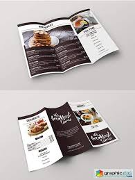 Brunch Cafe Trifold Menu Template Free Download Vector