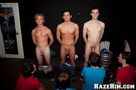 Naked college boys initiation