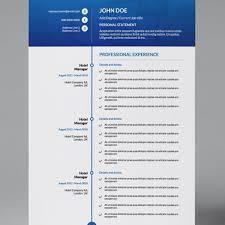 Long Timeline Modern Double Page Cv Resume