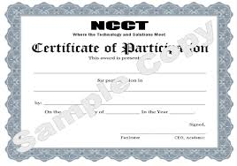 Certificate Of Participation Template Editable Professional
