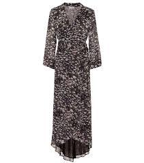 Floral Georgette Maxi Wrap Dress