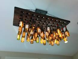 unique ceiling lighting. Brilliant Unique Ceiling Light Fixtures Fixture Made From Wine Bottles Picture Of Lighting