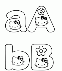 Hello Kitty Pictures To Color Free Printable Hello Kitty L L L L L L