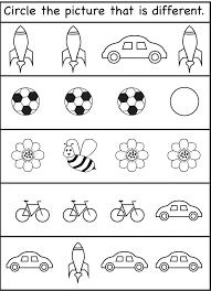 Same Different Worksheets For Kids 2016 | Kiddo Shelter