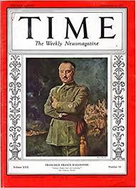 Amazon.com: Time, The Weekly Newsmagazine, Volume XXX, No. 10: September 6,  1937: Bahamonde, Francisco Franco) Time Magazine, Francisco Franco  Bahamonde on front cover.: Books