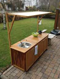 Master Forge Outdoor Kitchen Cedar Wood Outdoor Kitchen With A Concrete Countertop And Built In