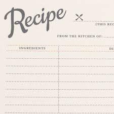 Free Printable Vintage Recipe Cards Love Vs Design